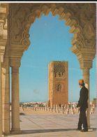 Carte Postale. Maroc. Rabat. Mausolée Mohamed V. Portique Du Musée. Tour Hassan. Etat Moyen. - Monumentos