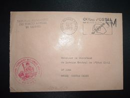 LETTRE OBL.MEC.12-7 1973 35998 RENNES ARMEES + CODE POSTAL + TRIBUNAL PERMANENT DES FORCES ARMEES DE RENNES - Military Postmarks From 1900 (out Of Wars Periods)