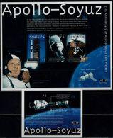 DOMINICA 2000 APOLLO SOYUZ MI No 2910-12 + BLOCK 407 MNH VF!! - Südamerika