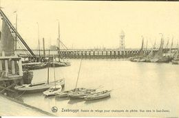 """CP De ZEEBRUGGE """" Bassin De Refuge Pour Chaloupes De Pêche , Vue Vers Le Sud-Ouest """" - Zeebrugge"""