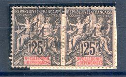 Nouvelle Calédonie - N°48 Paire Oblitérée Sur Fragment - (F1795) - Gebraucht