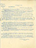 WW1 Belgique : Circulaire N°45 Du 11 Août 1914 Pour Le Personnel Des Chemins De Fer, Marine, Postes Et Télégraphes - Documents Historiques