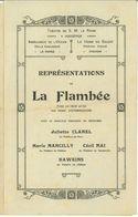 WW1 Belgique : Programme Théâtre Hoogstade - La Panne - Vinckem S.d. - Documents Historiques