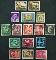 1943-1945 Das Btaune Band Mi.815 + 899, SA Mi.818,Tag Der Briefmarke Mi.828,Sonderstempel Mi.830, Etc. - Deutschland