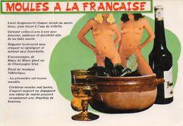 CPM 2 Femmes Nues Recette Moules à La Française - Photo Hubert Toyot - Nus Adultes (< 1960)