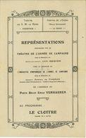 WW1 Belgique : Programme Théâtre Hoogstade - La Panne S.d. - Documents Historiques