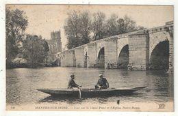 78 - MANTES-SUR-SEINE - Vue Sur Le Vieux Pont Et L'Eglise Notre-Dame - ND 240 - Mantes La Jolie