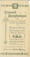 WW1 Belgique : Programme Concert Symphonique Théâtre Vinckem 1918 - Documents Historiques