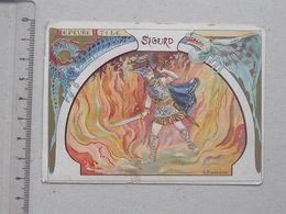 CHROMO LU (LEFEVRE UTILE): SIGURD - Art Nouveau - Viking Enfer Mythologie Dragon Flamme - Illustrateur BUSSIERE - LAAS - Lu