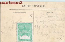 ESPERANTO VIGNETTE CONGRES 1887 ESPERANTISTE LANGUE BOULOGNE-SUR-MER - Esperanto