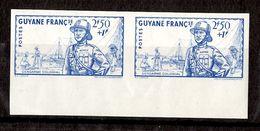 Guyane Française YT N° 171 En Paire Non Dentelés Neufs ** MNH. TB. A Saisir! - French Guiana (1886-1949)