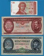 LOT BILLETS 3 BANKNOTES  CROATIA HUNGARY - Monedas & Billetes