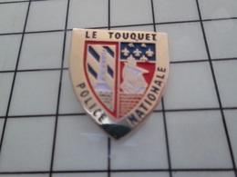 416c Pin's Pins / Beau Et Rare / THEME : POLICE / LE TOUQUET POLICE NATIONALE Par CENTRALE SPORTS - Police