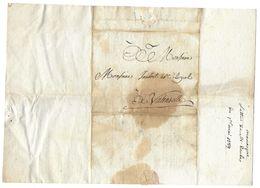 DERBES MANOSQUE 1789 A JAUBERT NOTAIRE ROYAL VALENSOLE - LETTRE LAC - Documents Historiques
