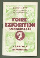 PROGRAMME FOIRE EXPOSITION CHOLET 49 MAINE ET LOIRE 1949 - Documents Historiques