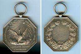 """Assurances Incendie , Médaille Argent """" PHENIX """" - Other Collections"""