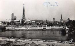 CPSM Rouen La Cathédrale Vue De La Rive Gauche - Rouen