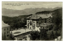Ref 1384 - 1933 Postcard - Golf Hotel Mendola Italy - 75c Rate Mendola Trento To Perth Scotland - Trento