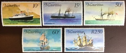 Mauritius 1976 Mail Carriers Ships MNH - Mauricio (1968-...)