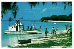 Ref 1384 - 1978 Barbados Postcard - Willies Water Sports Boat & Paradise Beach - Slogan Pmk - Barbades