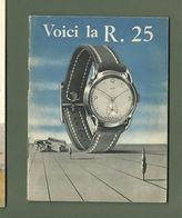 PETIT CARNET PUBLICITAIRE VOILA LA R25 MONTRE LIP - Publicités