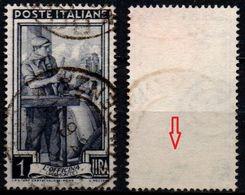 # Filigrana Lettere Bassa 8/10 - 1 Lira Ruota 1° DB Italia Al Lavoro - 1946-.. République