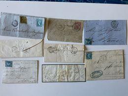 Lot 7 Vieilles Lettres / 1850/60 + Carte-pneumatique - Alte Papiere