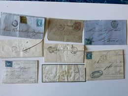 Lot 7 Vieilles Lettres / 1850/60 + Carte-pneumatique - Documentos Antiguos