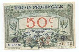 CHAMBRE DE COMMERCE MARSEILLE  50 Centimes 1922  REGION  Provençale - Chamber Of Commerce