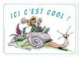 Plaque De Porte: GASTON LAGAFFE: Ici C'est Cool - Franquin. Ed. Dalix 1993 (pouvant Servir De Set De Table) - Other