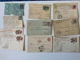 Lot 7 CP Entiers Postaux / + 2 Carte Lettre Et Carte-pneumatique, Dont Italie, Allemagne, Bresil - Alte Papiere