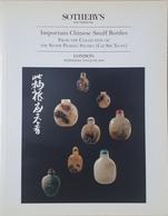 Catalogo Sotheby's - Chinese Snuff Bottles - Tabacco Da Fiuto - Ed. June 1995 - Books, Magazines, Comics