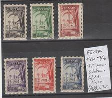 TIMBRES DE FEZZAN NEUF**MNH 1950 **/* Nr 6/11T-TAXE 6 VALEURS  COTE 16  € - Fezzan (1943-1951)