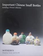 Catalogo Sotheby's - Chinese Snuff Bottles  Tabacco Da Fiuto 28 April 1998 - Books, Magazines, Comics