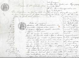 BAIL SUR BEZIERS - LOT DE 3 DOCUMENTS HERAULT - Documents Historiques