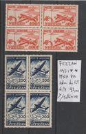 TIMBRES DE FEZZAN NEUF**MNH 1951 **/* Nr 6/7 PA **MNH 2 BLOCS DE 4 TIMBRES   COTE 92  € - Fezzan (1943-1951)