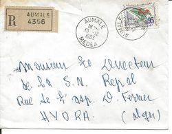 Algérie LR Aumale Medea 13/12/63 - Algeria (1962-...)