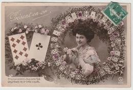 Fantaisie - Cartes à Jouer - Jeux - Présent En Or - Prochainement Vous Sera Fait Un Présent En Or Très Coquet - Autres