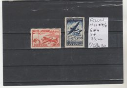 TIMBRES DE FEZZAN NEUF**MNH 1951 **/* Nr 6**/7* PA    COTE 23  € - Fezzan (1943-1951)