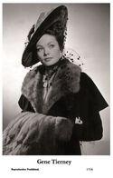 GENE TIERNEY - Film Star Pin Up PHOTO POSTCARD - 1/526 Swiftsure Postcard - Cartes Postales