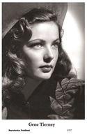 GENE TIERNEY - Film Star Pin Up PHOTO POSTCARD - 1/527 Swiftsure Postcard - Cartes Postales