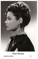 GENE TIERNEY - Film Star Pin Up PHOTO POSTCARD - 1/530 Swiftsure Postcard - Cartes Postales