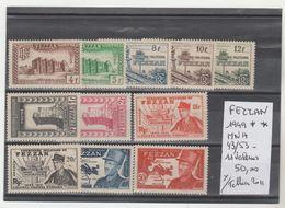 TIMBRES DE FEZZAN NEUF** MNH 1949 ** Nr 43/53 **MNH  11 VALEURS     COTE 50  € - Fezzan (1943-1951)
