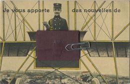 ATH : Je Vous Apporte Des Nouvelles : Carte A Système  Avec 10 Petit Images :  Complet    ( See Scans) Ecrit Avec Timbre - Ath