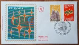 FDC 1972 - YT N°1714, 1715 - EUROPA / CONSEIL DE L'EUROPE - STRASBOURG - 1970-1979