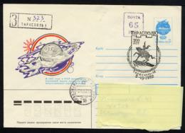 MOLDAVIE TIRASPOL 1992, 1 Enveloppe Recommandée Avec Timbre Impression Locale Et Cachet Illustré, Oblitérée / Used. R323 - Moldawien (Moldau)