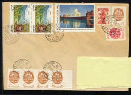 MOLDAVIE TIRASPOL 1993, 1 Enveloppe Avec Timbre SU Surchargé, Plus Timbres De Russie, SU Et Moldavie. - Moldawien (Moldau)