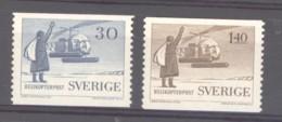 Suède  -  Avion  :   Yv  8-9  ** - Unused Stamps