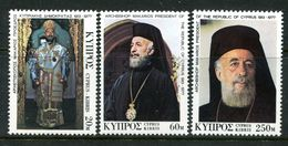 Cyprus 1977 Death Of Archbishop Makarios Set MNH (SG 490-492) - Zypern (Republik)