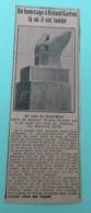 Article De Journaux, La Mort De Roland Garros Le 5 Octobre 1918 (08)VOUZIERS HOMMAGE A ROLAND GARROS MONUMENTS - Documents Historiques